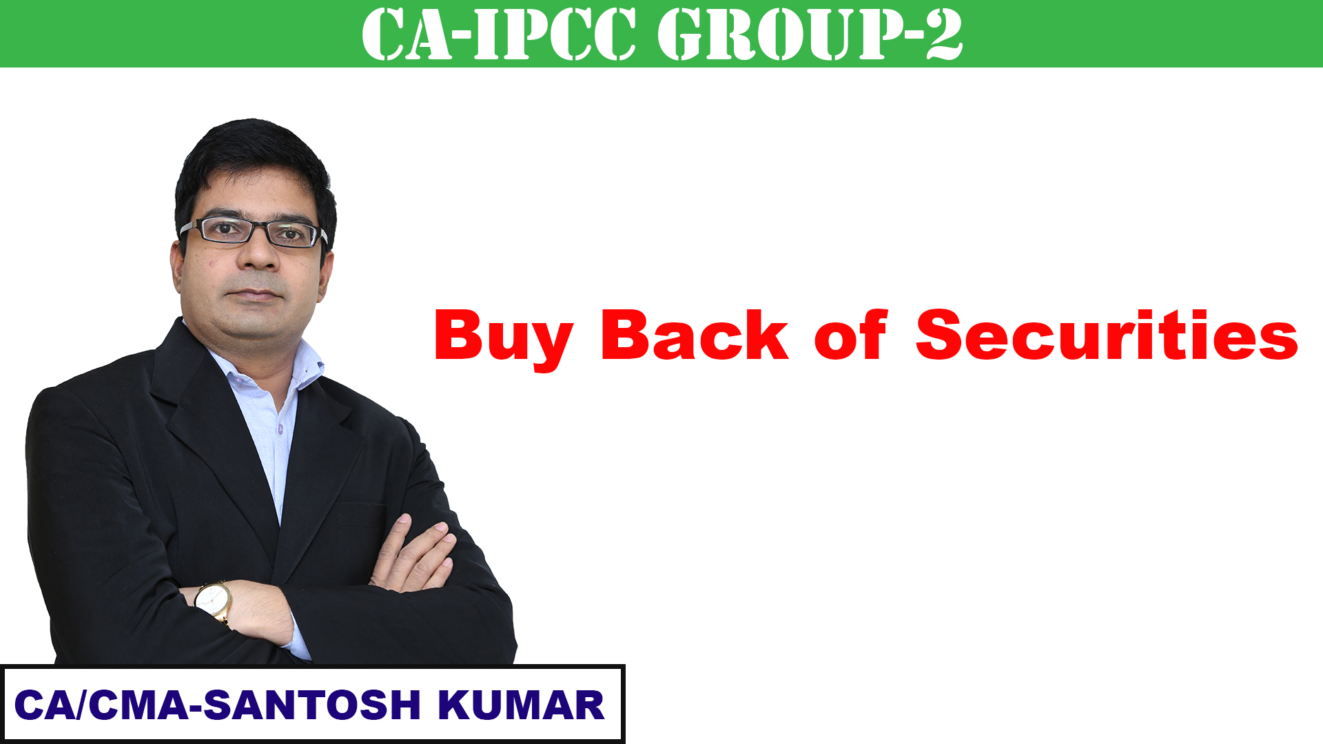 Buy Back of securities