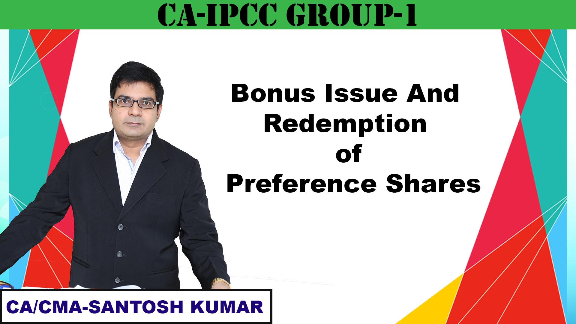 Bonus Issue and Redemption of Preference Shares