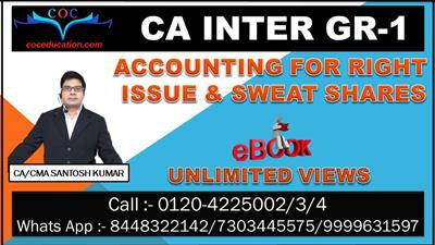 Accounting For Right Issue And Sweat Shares
