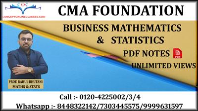 BUSINESS MATHEMATICS & STATISTICS DEC. 2020