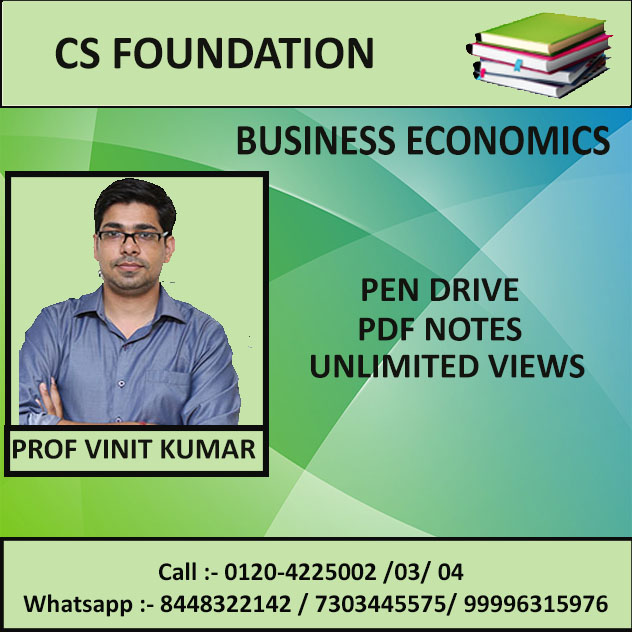 BUSNIESS ECONOMICS (PEN DRIVE+PDF NOTES) JUNE 2019