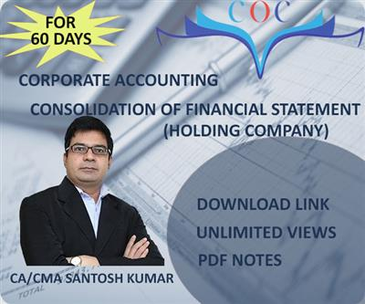Consolidation Of Financial Statement (Holding Company)