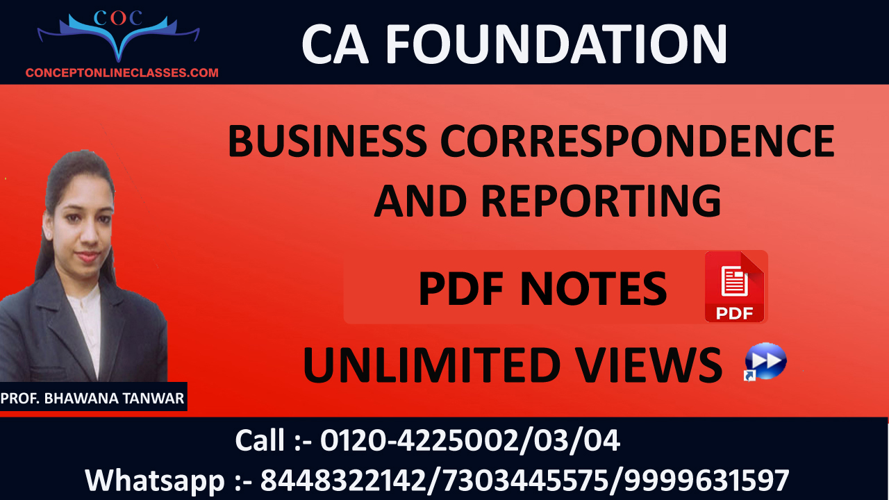 BUSINESS CORRESPONDENCE AND REPORTING  NOV 2020