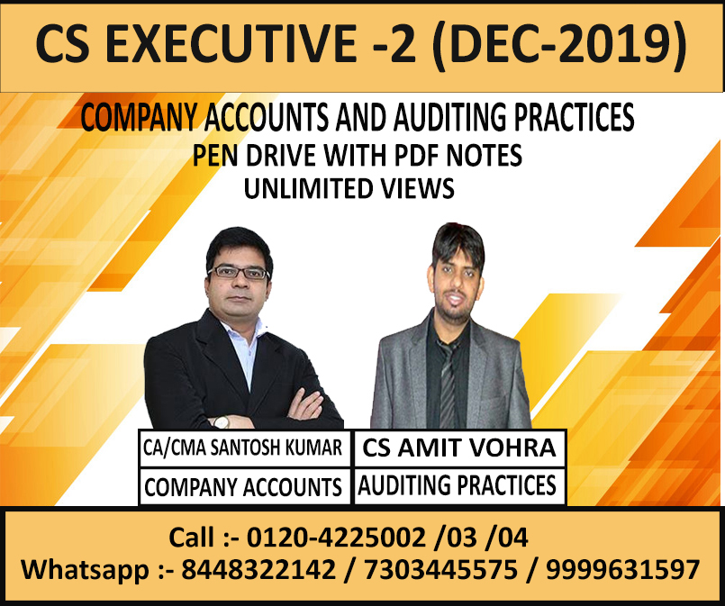 COMPANY ACCOUNTS (PEN DRIVE+PDF NOTES) DEC. 2019