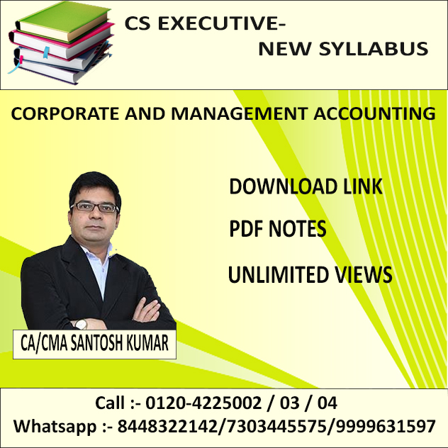 CORPORATE & MANAGEMENT ACCOUNTING(D-LINK+PDF NOTES) DEC. 19