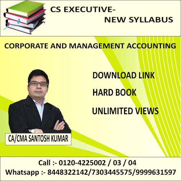 CORPORATE & MANAGEMENT ACCOUNTING(D-LINK+HARD BOOK) DEC. 2019