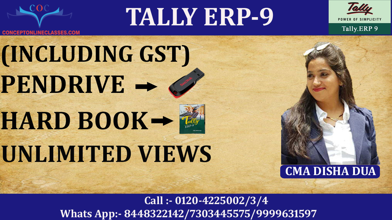 TALLY ERP-9 (INCLUDING GST) (PENDRIVE+HARD BOOK)