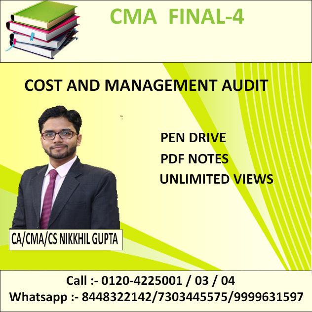 COST AND MANAGEMENT AUDIT (Pen Drive + PDF) June 2019