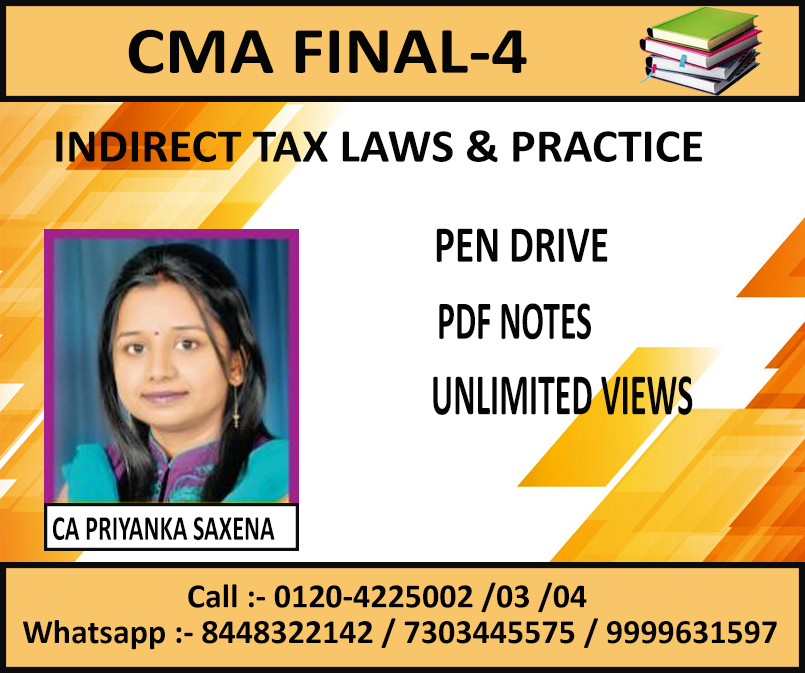 INDIRECT TAX LAWS & PRACTICE (PEN DRIVE+PDF) JUNE 2019