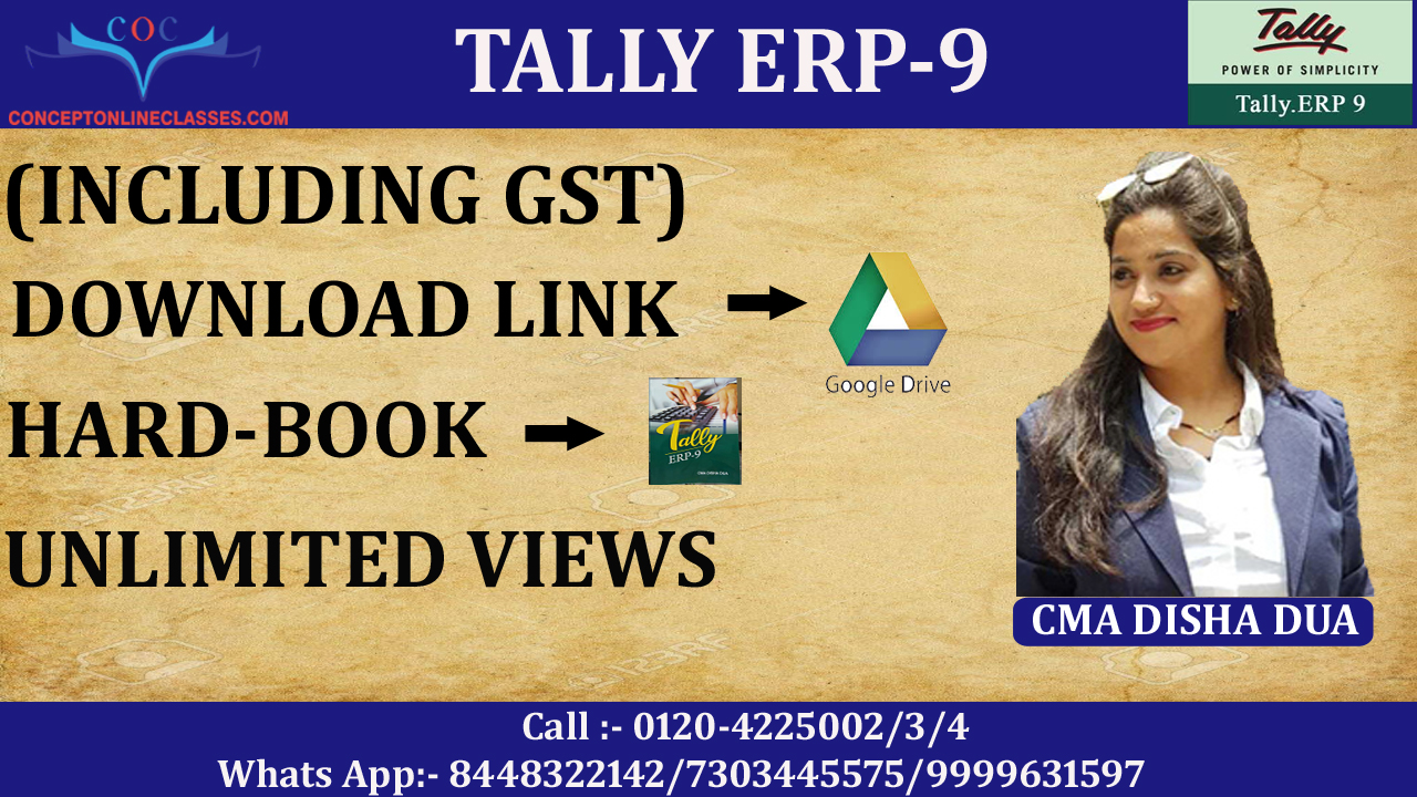 TALLY ERP-9 (INCLUDING GST) (D-LINK+HARD BOOK)